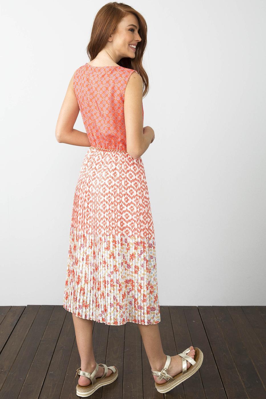 Turuncu Dokuma Elbise
