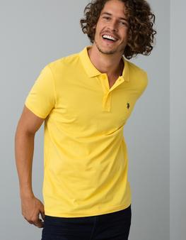 Sarı Slim T-Shirt