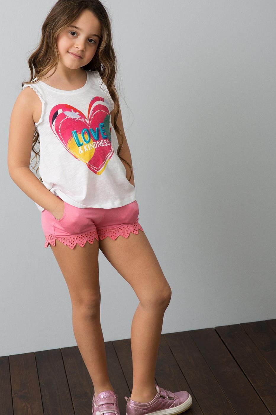 Kız Çocuk Orme Capri Bermuda