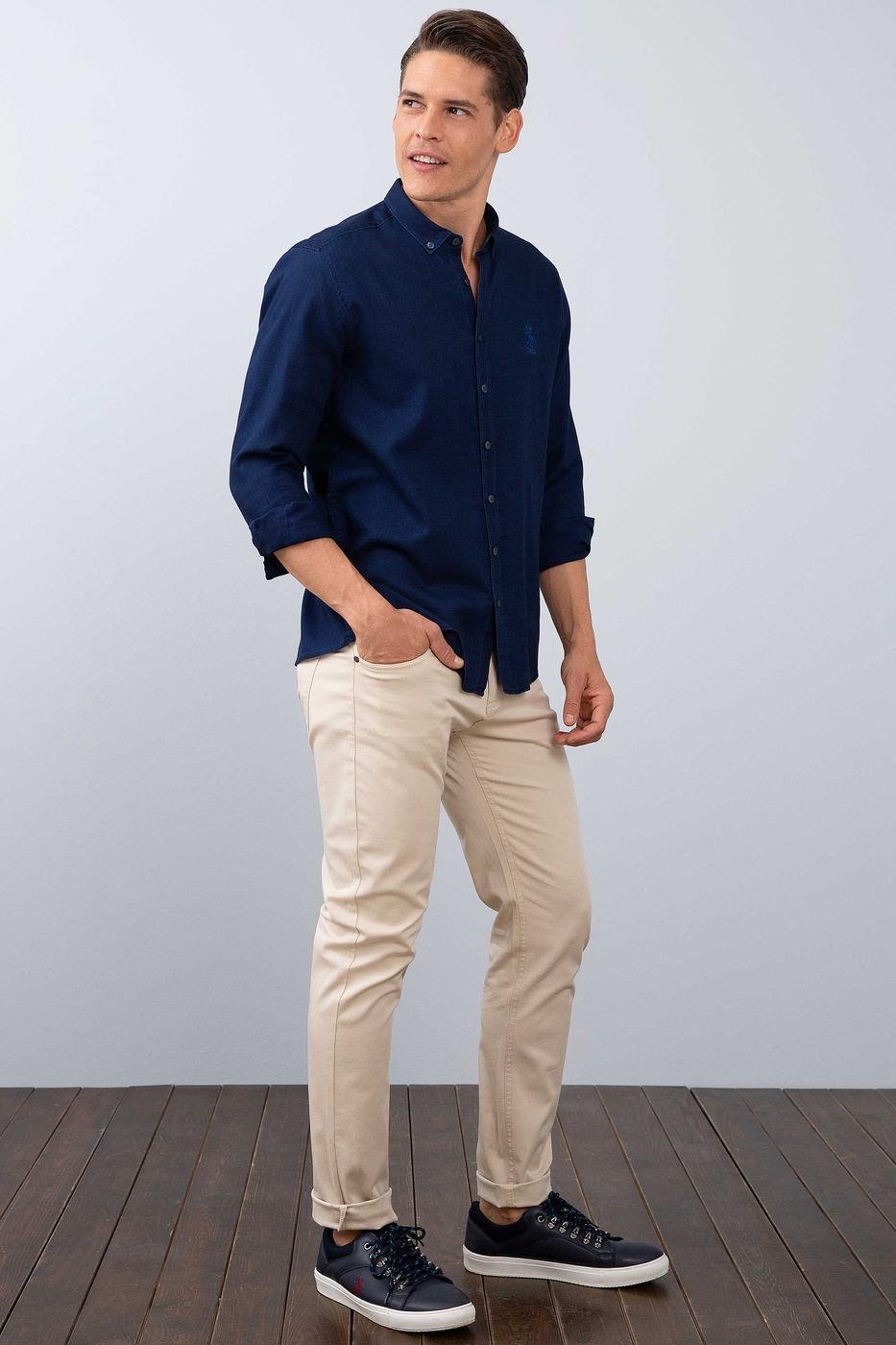 Bej Slim Pantolon