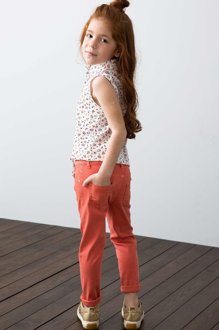 Kırmızı Denim Pantolon