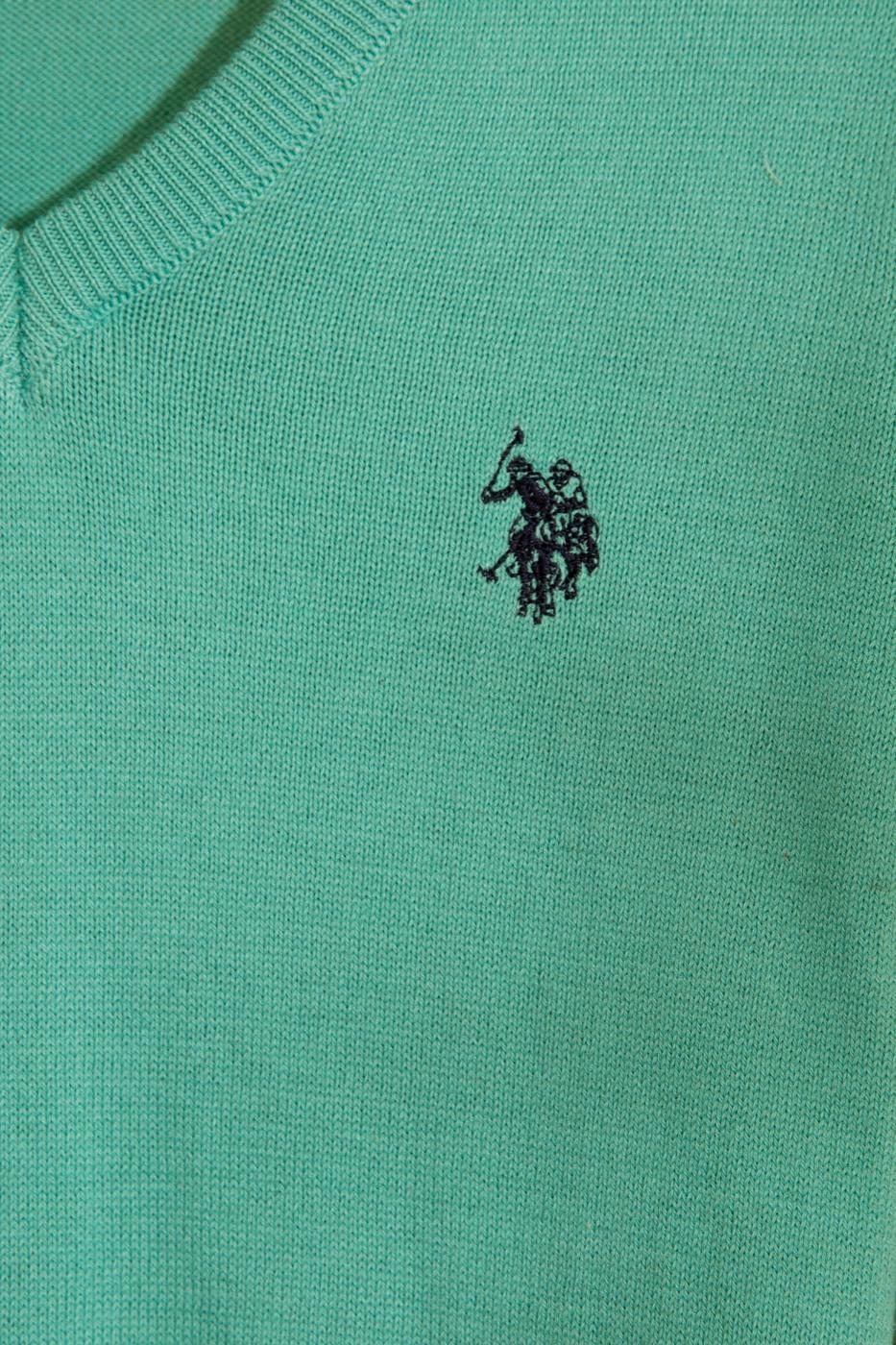 Yeşil Triko Kazak Basic