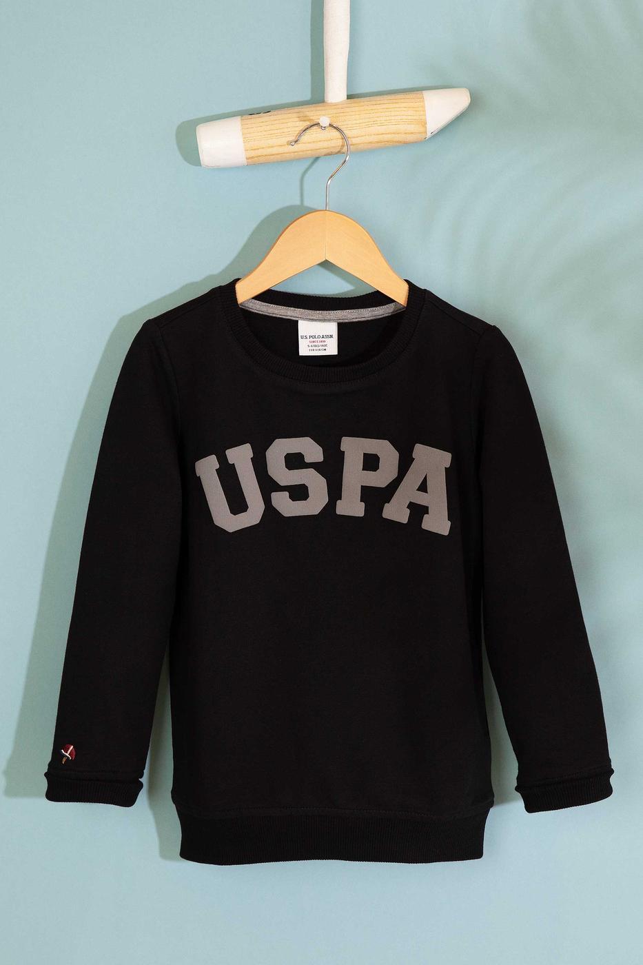 Siyah Sweatshirt Basic