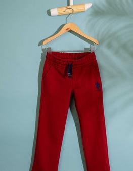Kırmızı Örme Pantolon