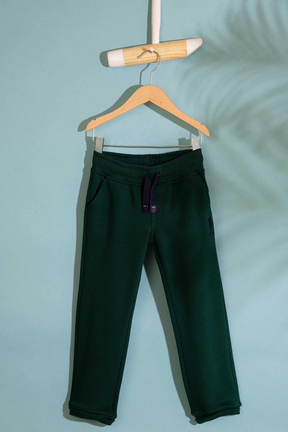Yeşil Örme Pantolon