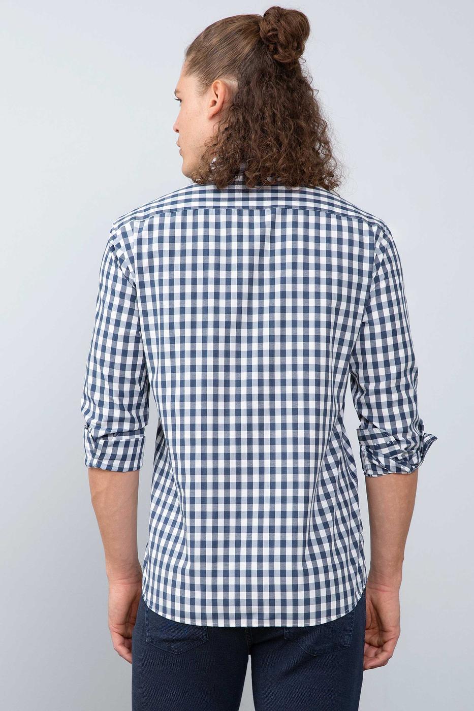 Lacivert Gömlek Uzunkol