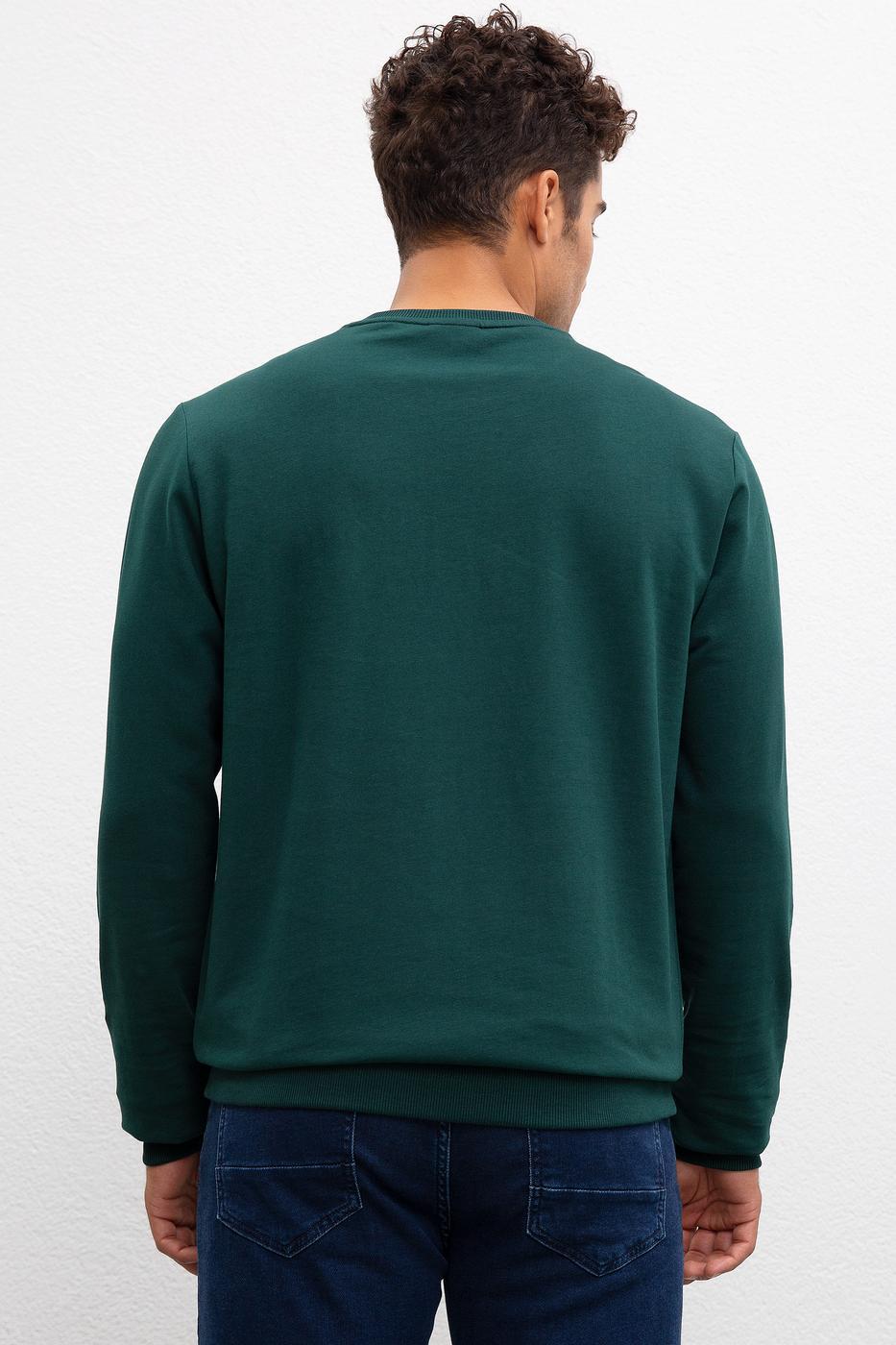 Yeşil Sweatshirt Basic