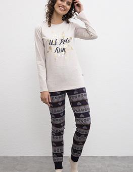 Bej Pijama Takımı