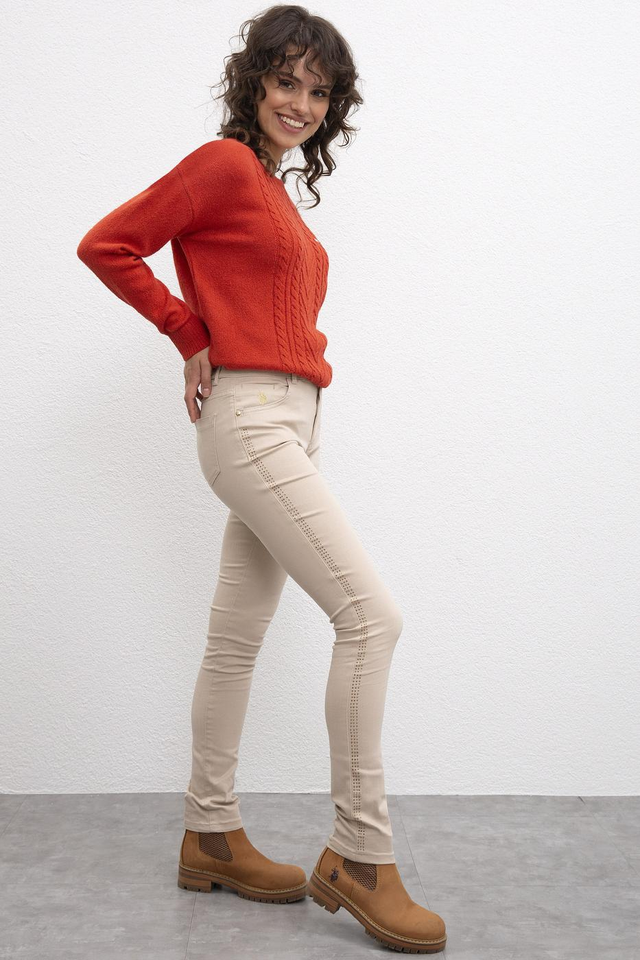 Bej Skinny Pantolon