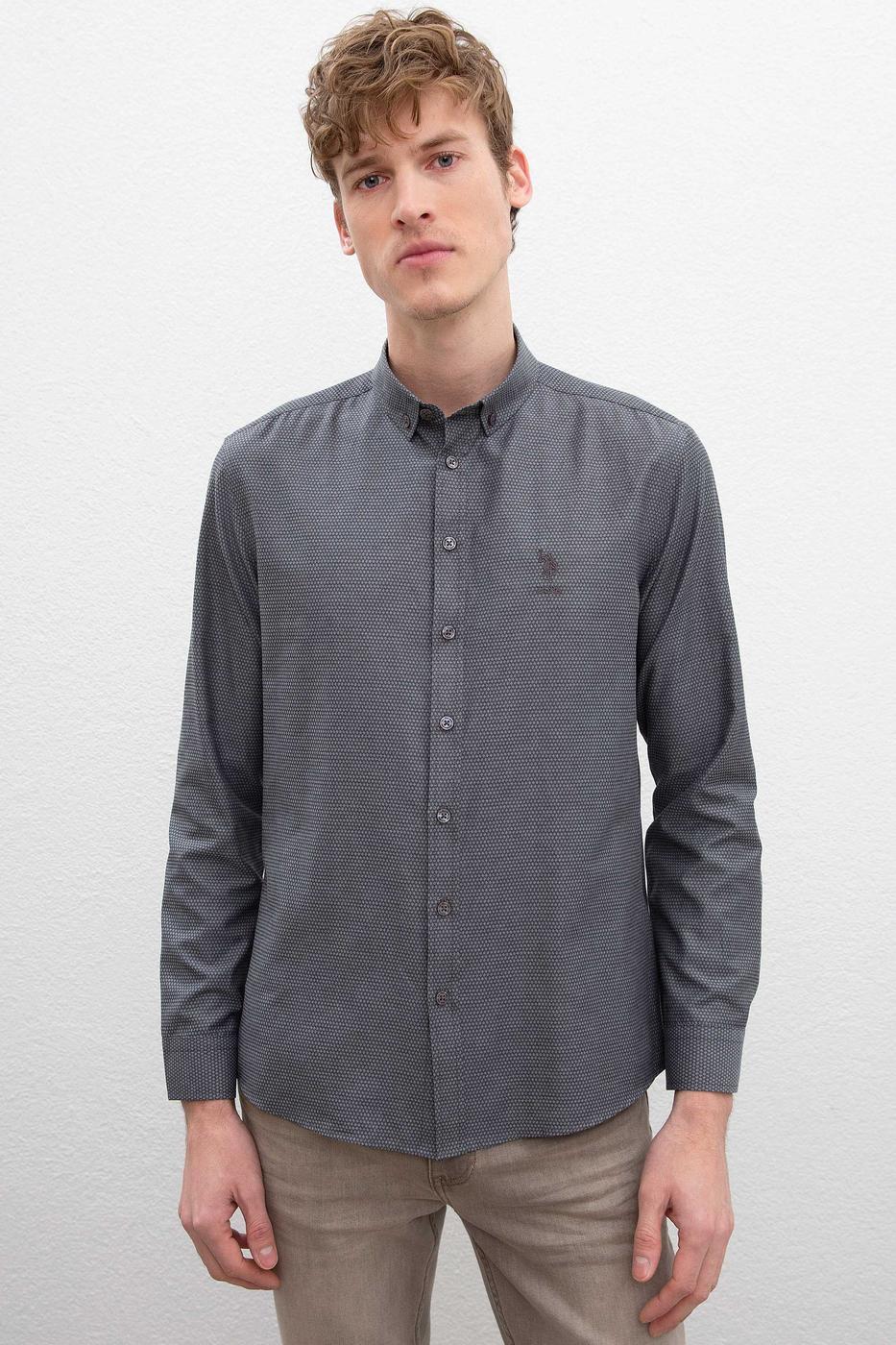 Gri Gömlek Uzunkol