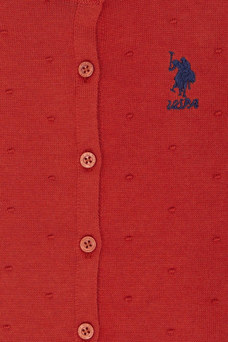 Kırmızı Triko Hırka