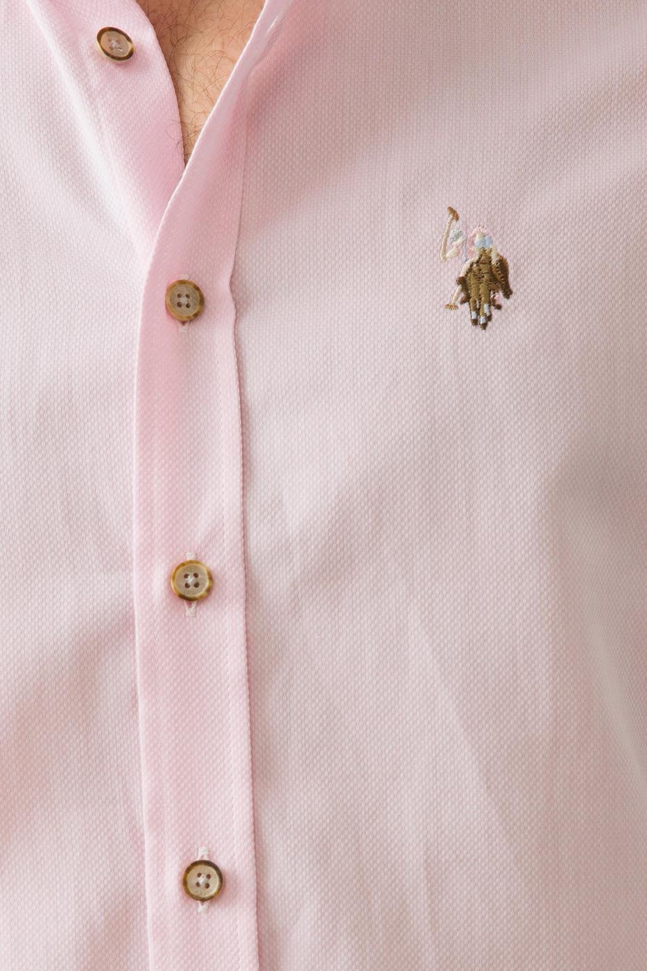 Pembe Gömlek Uzunkol Basic