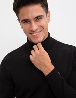 Siyah Triko Kazak Basic