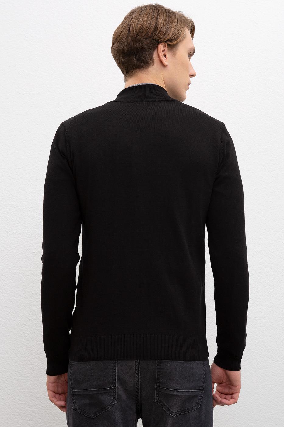 Siyah Triko Hırka Basic