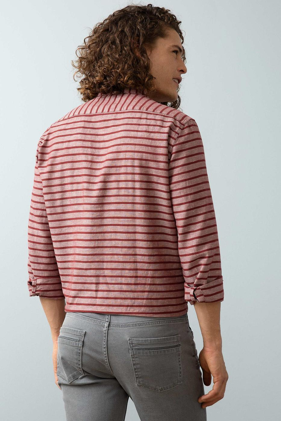Kırmızı Gömlek Uzunkol