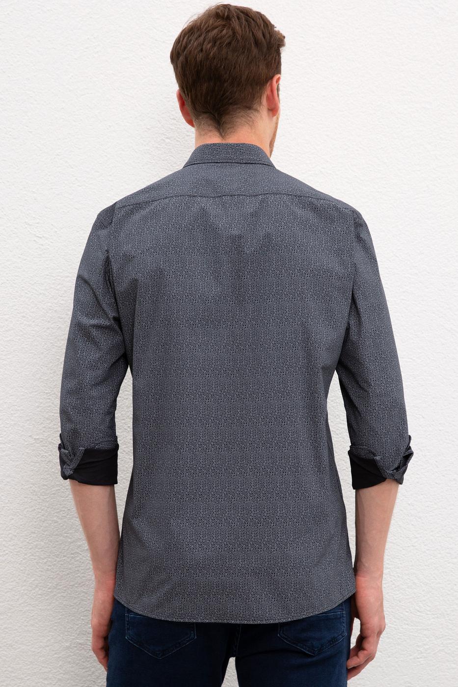 Siyah Gömlek Uzunkol