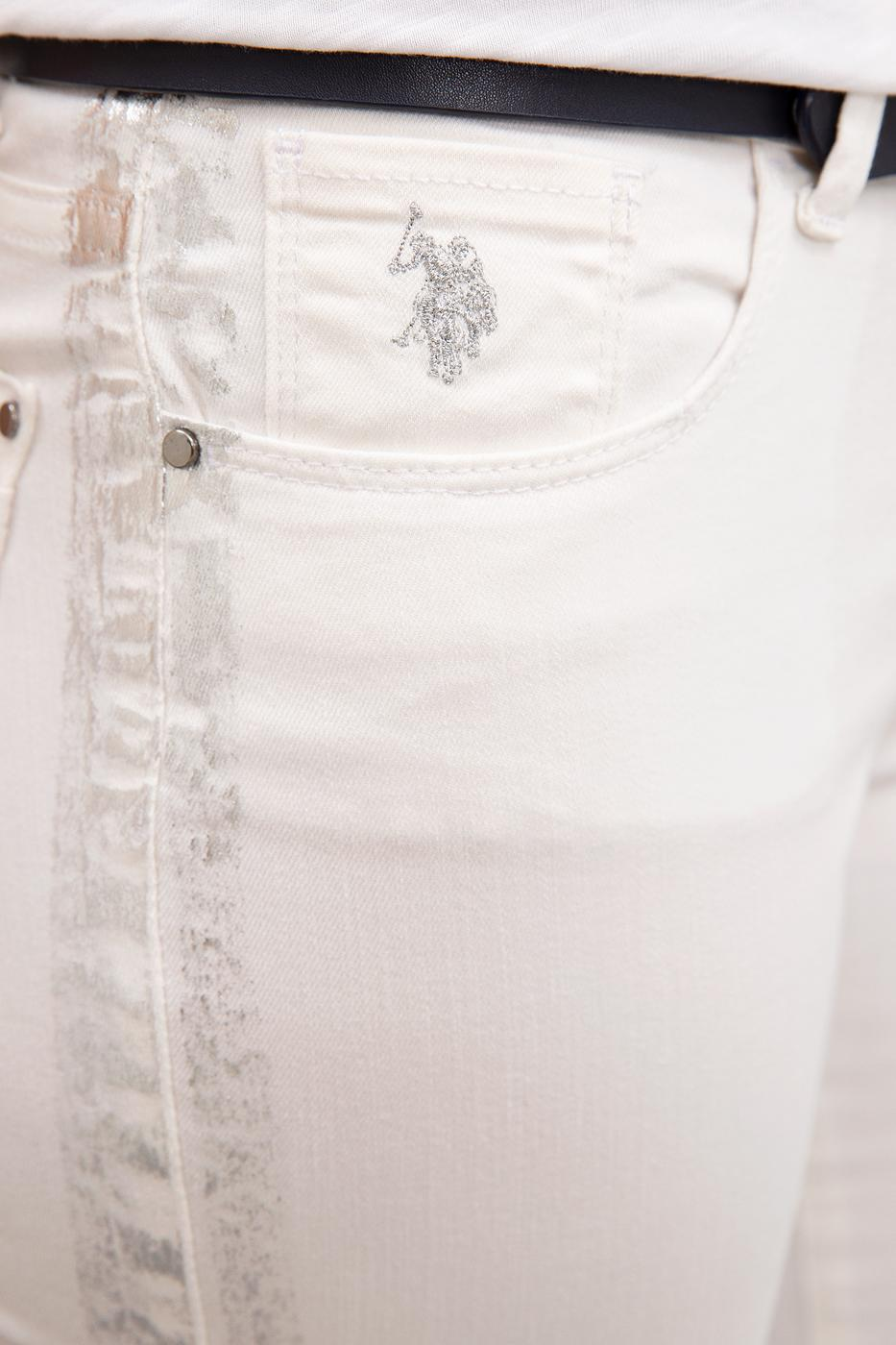 Beyaz Denim Pantolon