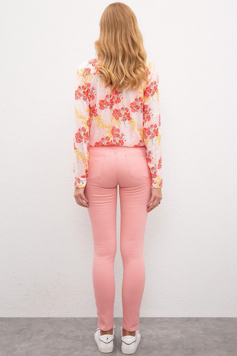 Pembe Denim Pantolon