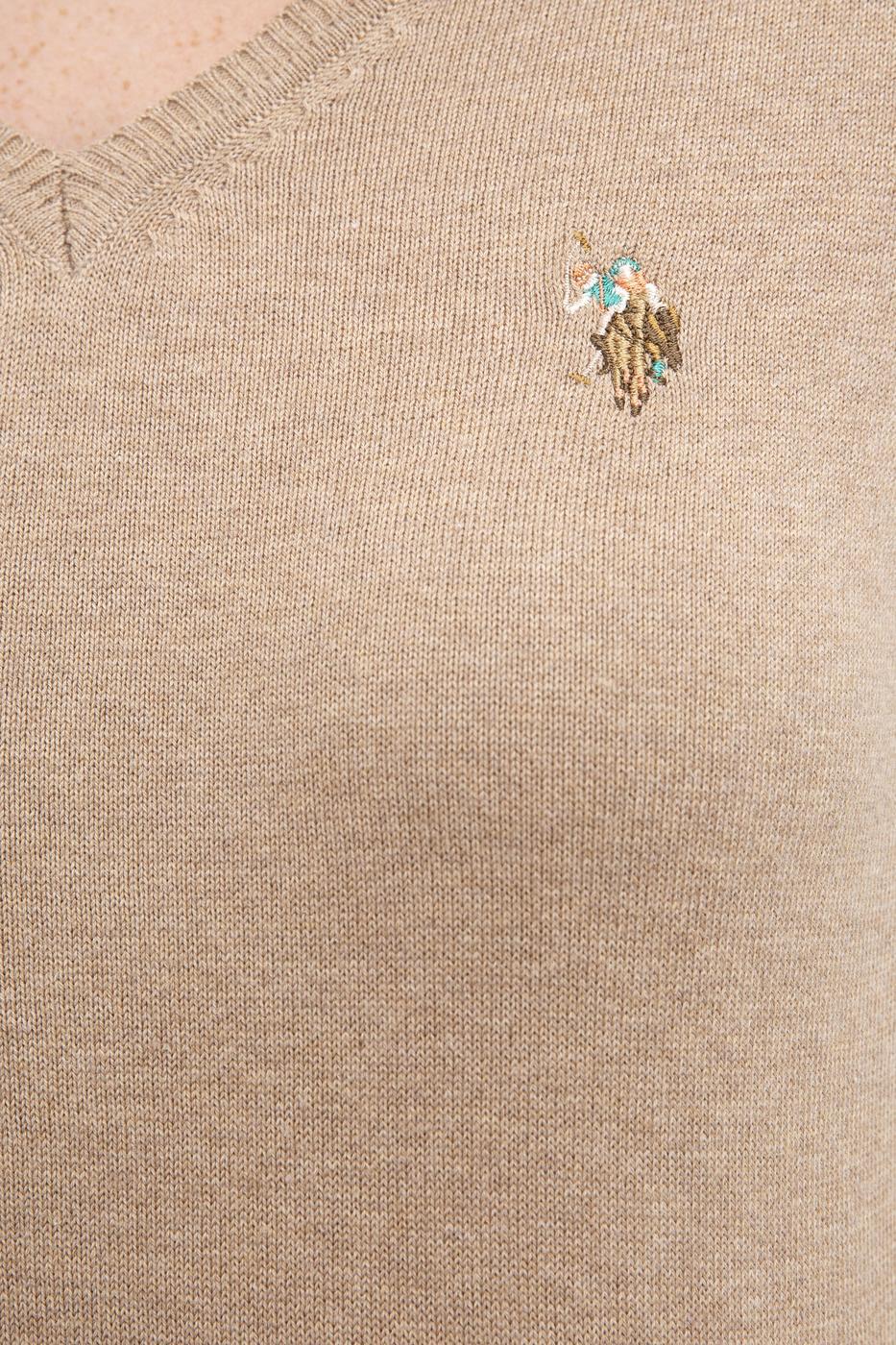 Kahverengi Triko Kazak Basic