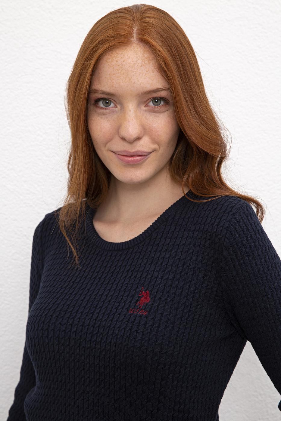 Lacivert Triko Kazak Basic
