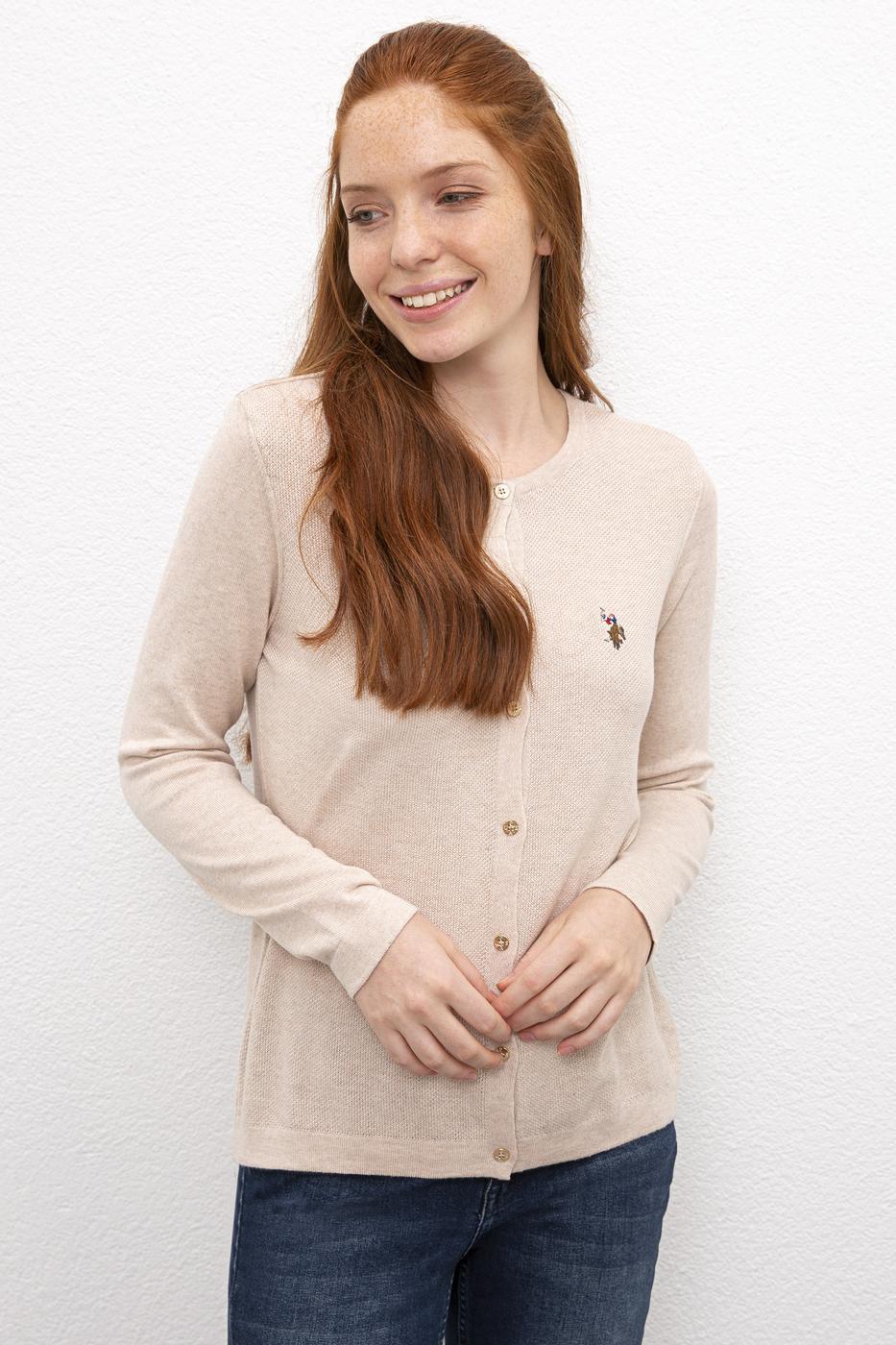 Beyaz Triko Hırka Basic