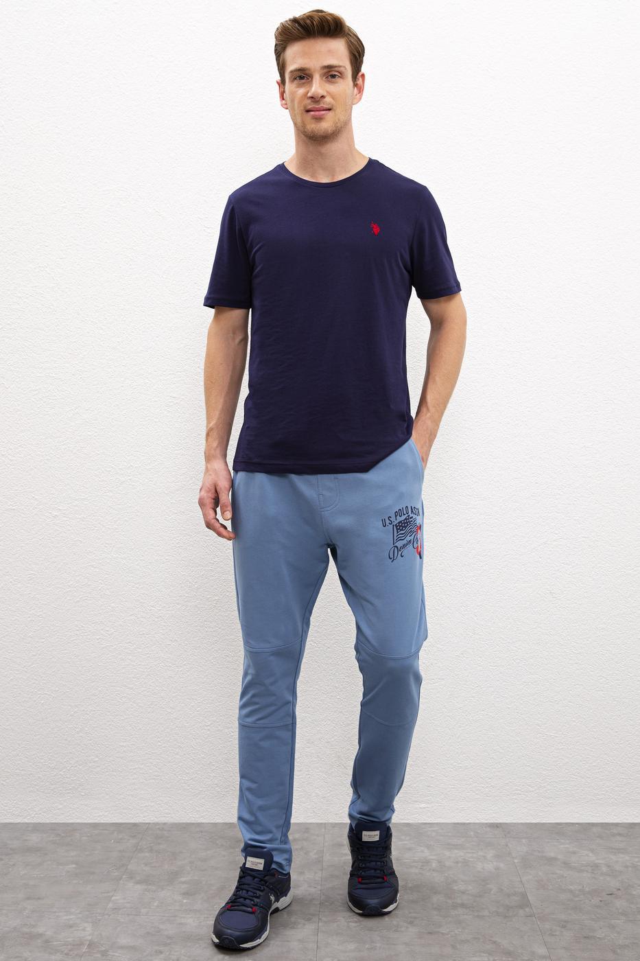 Mavi Örme Pantolon