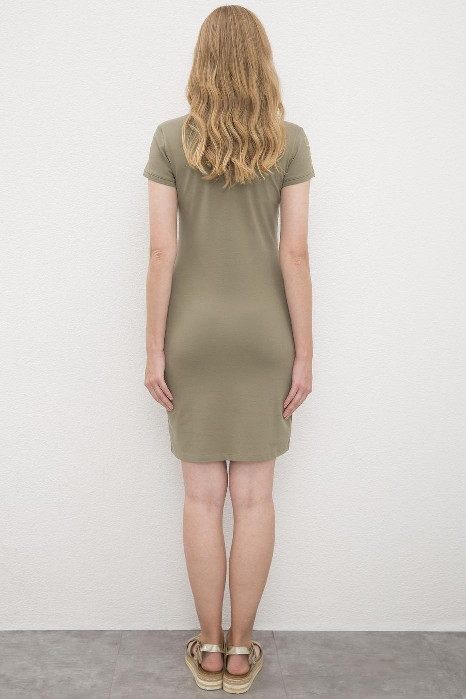 Yeşil Örme Elbise
