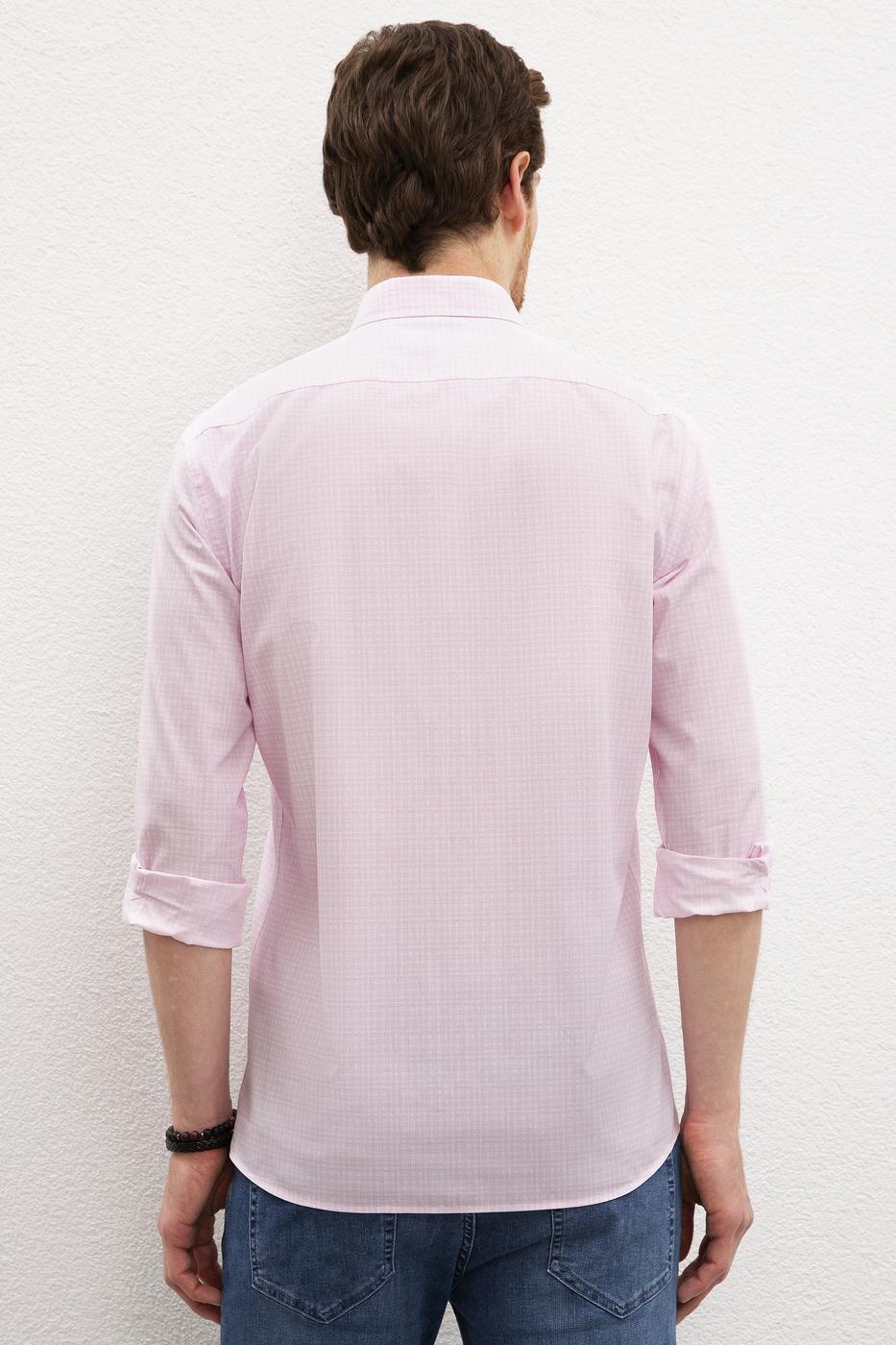 Pembe Gömlek Uzunkol