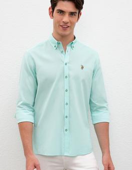 Yeşil Gömlek Uzunkol Basic
