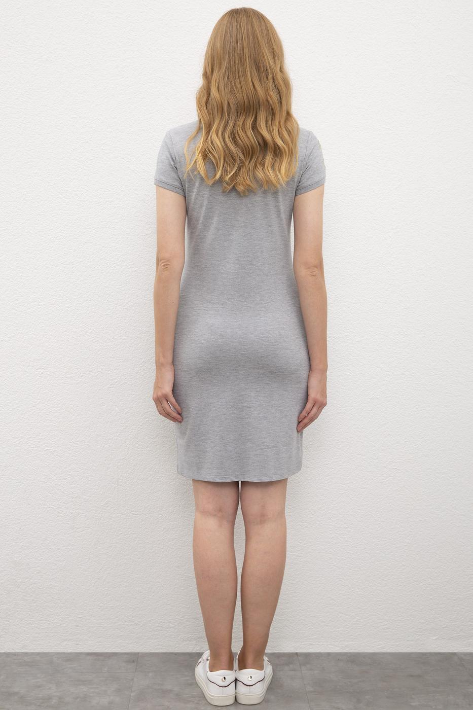 Gri Örme Elbise
