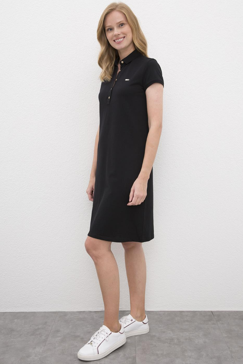 Siyah Örme Elbise