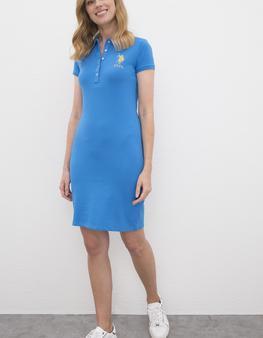 Mavi Örme Elbise