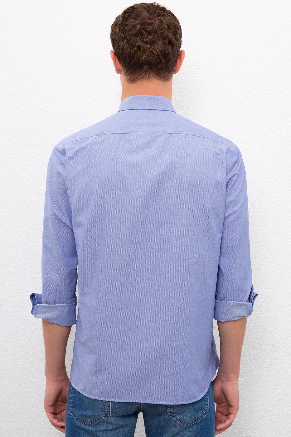Mavi Gömlek Uzunkol Basic