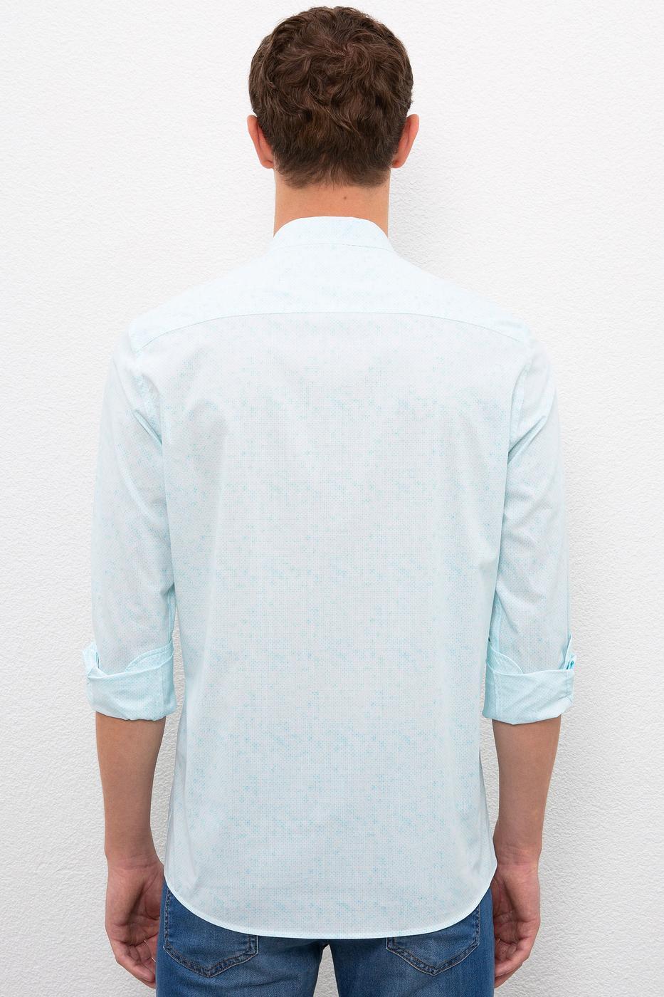 Mavi Gömlek Uzunkol