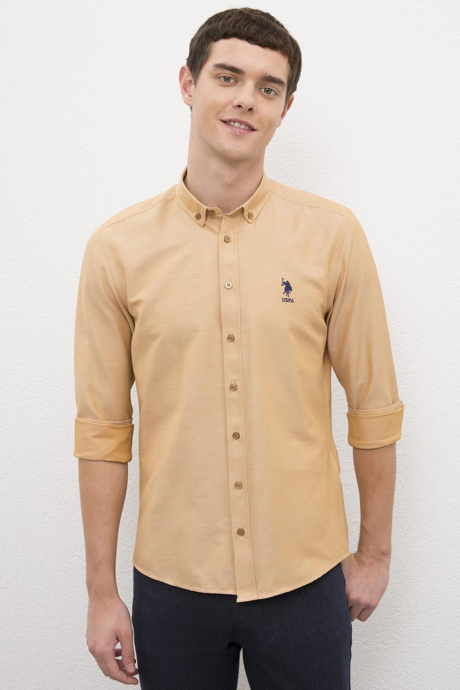 Kahverengi Gömlek Uzunkol Basic