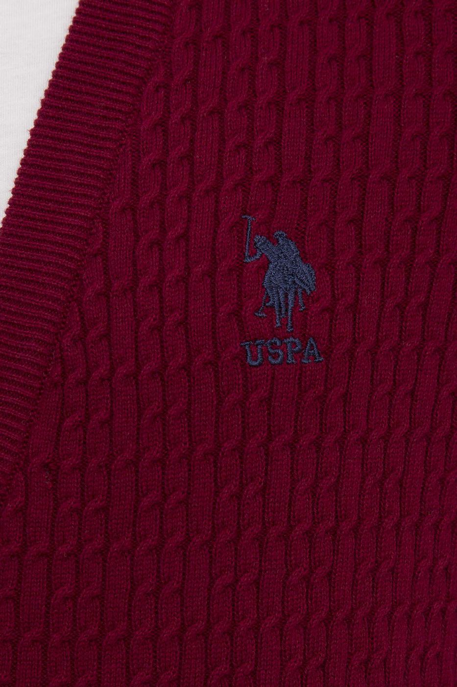 Kırmızı Triko Hırka Basic