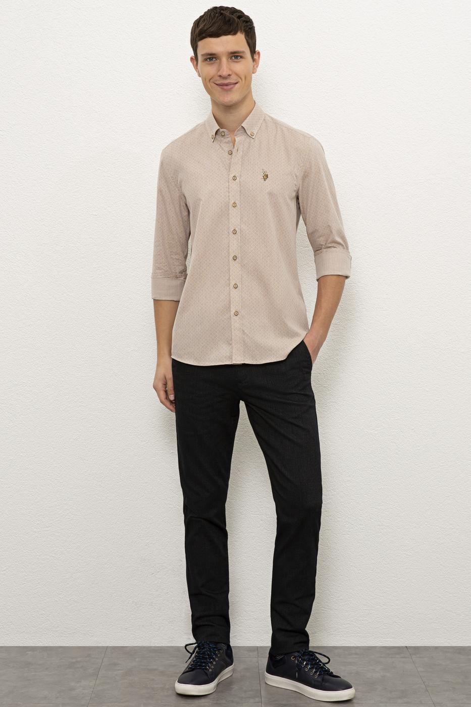 Kahverengi Gömlek Uzunkol