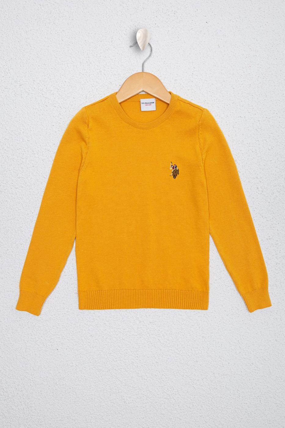 Sarı Triko Kazak Basic