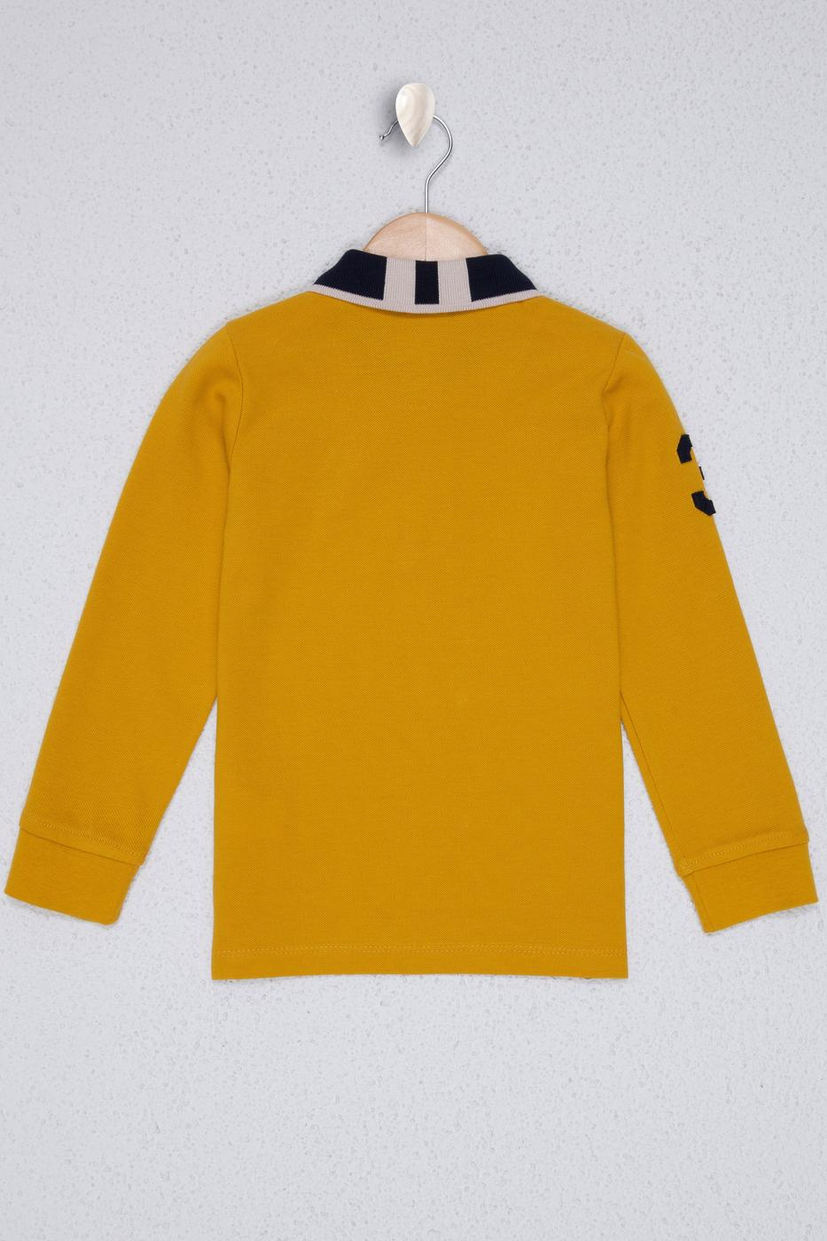 Sarı Sweatshirt Basic