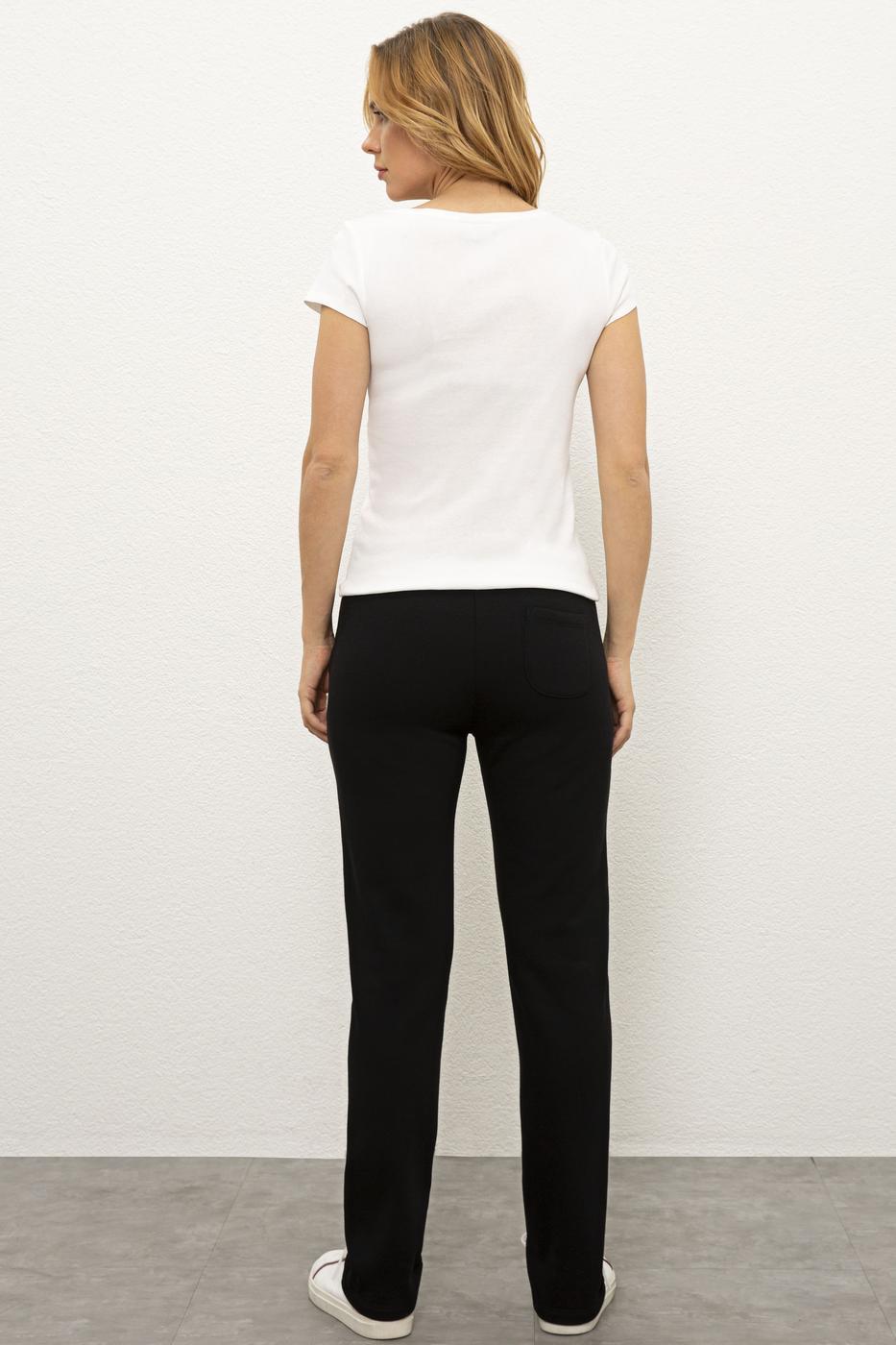 Siyah Örme Pantolon