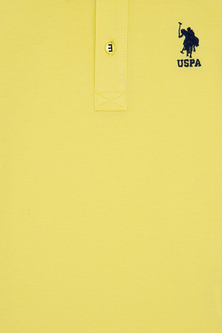 Limon Sarısı Polo Yaka T-Shirt Basic
