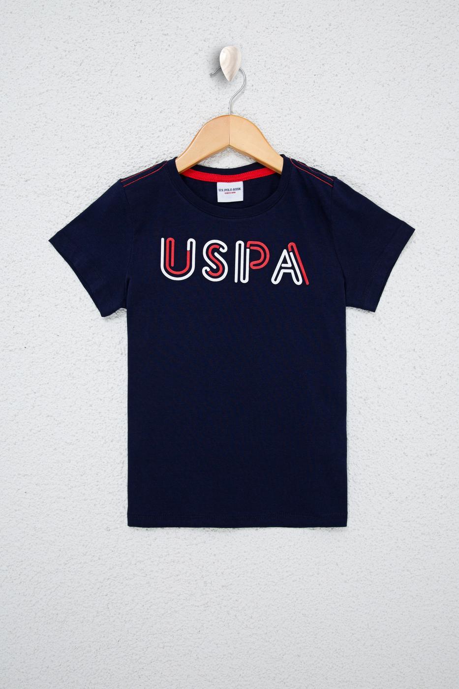 Lacivert Bisiklet Yaka T-Shirt