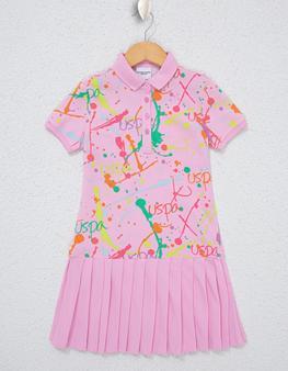 Pembe Örme Elbise