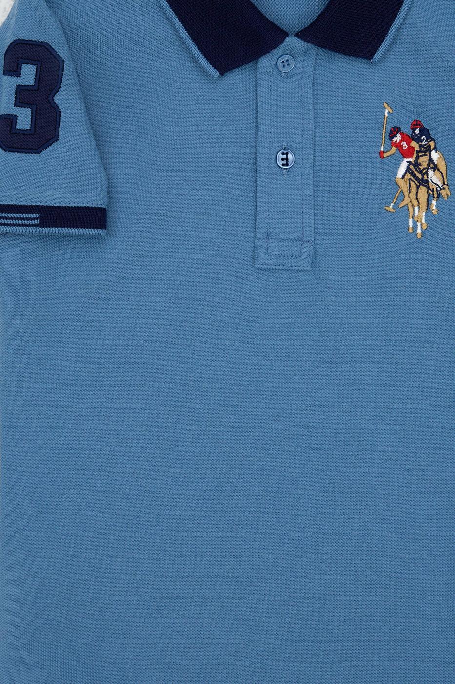 İndigo Polo Yaka T-Shirt Basic